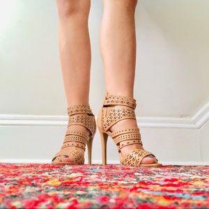 Perforated Nude Heels